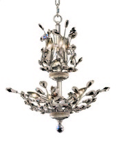 Elegant 2011D21C/RC - 2011 Orchid Collection Hanging Fixture D21in H22in Lt:8 Chrome Finish (Royal Cut Crystals)