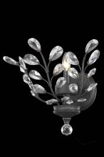 Elegant 2011W16DB/RC - 2011 Orchid Collection Wall Sconce W16in H14in E6in Lt:1 Dark Bronze Finish (Royal Cut Crystals)