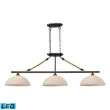ELK Lighting 73045-3-LED - Natural Rope 3 Light LED Billiard In Aged Bronze